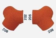 Y-образный полукруглый конек начальный/окончание