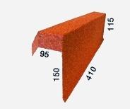 Фронтонная планка одинарная правая/левая