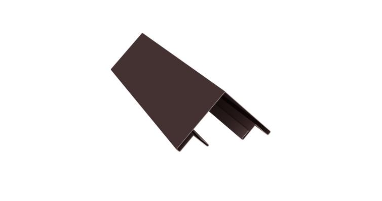 Планка угла внешнего составная верхняя 0,5 Quarzit с пленкой RAL 8017