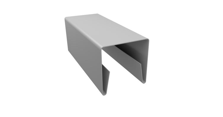Планка П-образная заборная 20 0,45 PE с пленкой RAL 9003