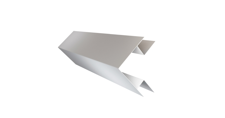 Планка угла внешнего сложного Экобрус 0,5 Satin с пленкой RAL 9003