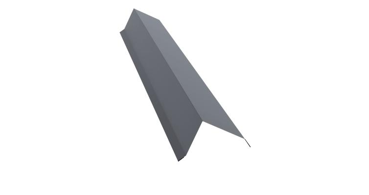 Планка торцевая 100х80 0,5 Satin с пленкой RAL 9006