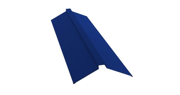 Планка конька плоского 115х30х115 0,45 PE с пленкой RAL 5002