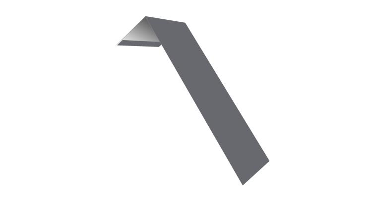 Планка лобовая/околооконная простая 190х50 0,45 PE с пленкой RAL 7004