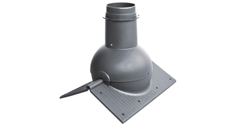 Коньковый элемент Krovent Pipe-Cone серый