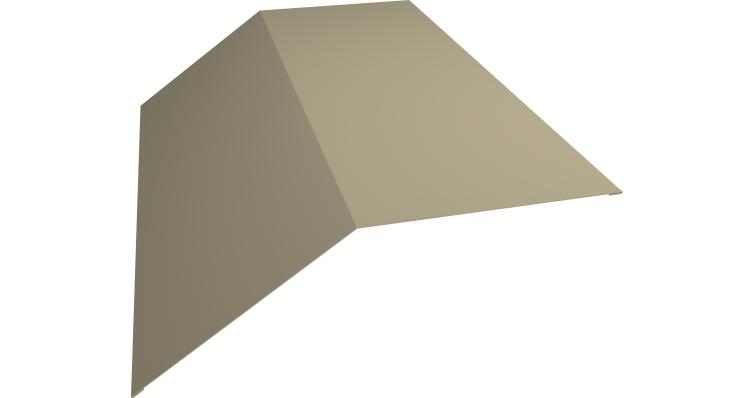 Планка конька плоского 145х145 0,45 PE с пленкой RAL 1015