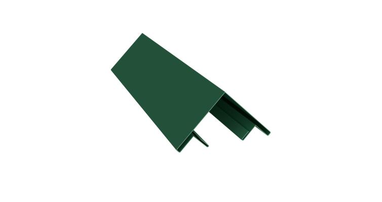 Планка угла внешнего составная верхняя 0,45 PE с пленкой RAL 6005