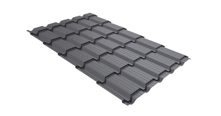 Металлочерепица квадро 0,45 PE RAL 7004