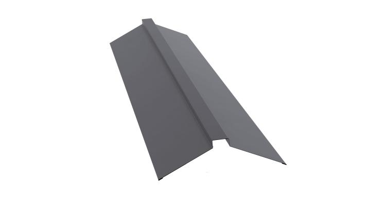 Планка конька плоского 115х30х115 0,5 Satin с пленкой RAL 7004