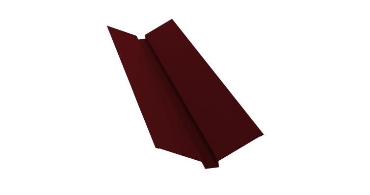 Планка ендовы верхней 115х30х115 0,5 Satin с пленкой RAL 3005