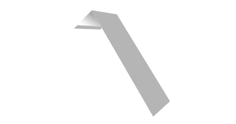 Планка лобовая/околооконная простая 190х50 0,5 Satin с пленкой RAL 9003