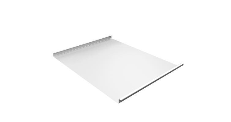 Фальц двойной стоячий 0,45 PE с пленкой RAL 9003