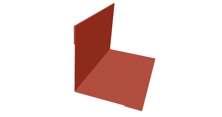 Планка угла внутреннего 110х110 0,5 Satin с пленкой RAL 8004
