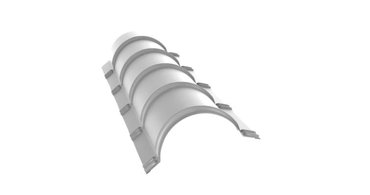 Планка конька полукруглого 0,4 PE с пленкой RAL 9003