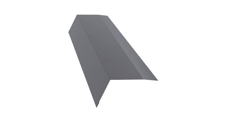 Планка карнизная 100х65 0,5 Satin с пленкой RAL 7004
