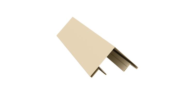 Планка угла внешнего составная верхняя 0,5 Satin с пленкой RAL 1015