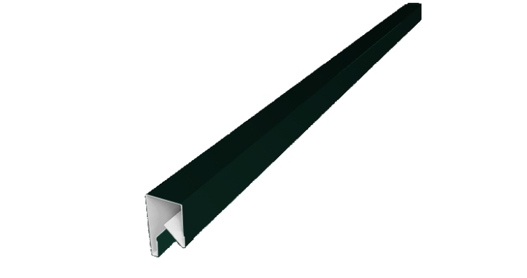 Планка П-образная заборная 17 0,45 PE-Double с пленкой RAL 6005