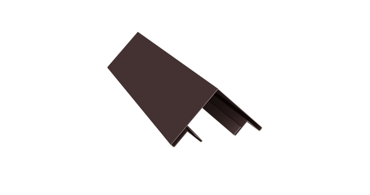 Планка угла внешнего составная верхняя 0,45 PE с пленкой RAL 8017
