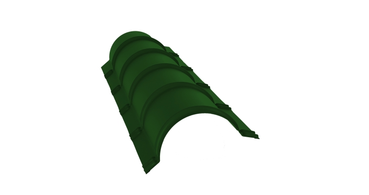 Планка конька полукруглого 0,45 PE с пленкой RAL 6002