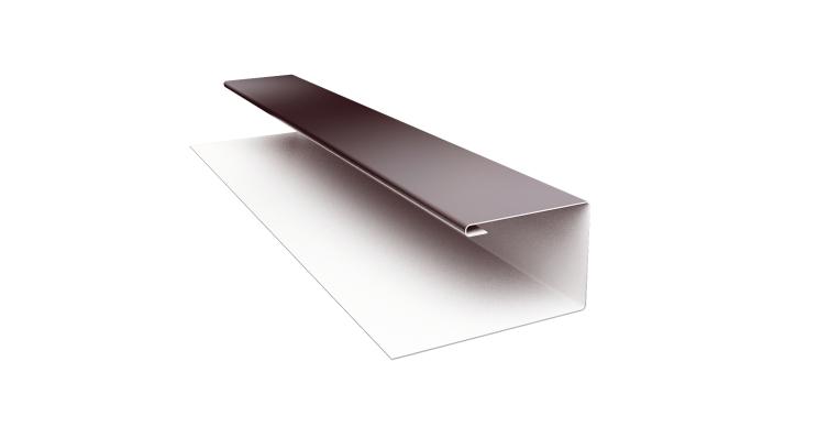 Планка П-образная Блок-хаус GL 0,5 Quarzit с пленкой RAL 8017