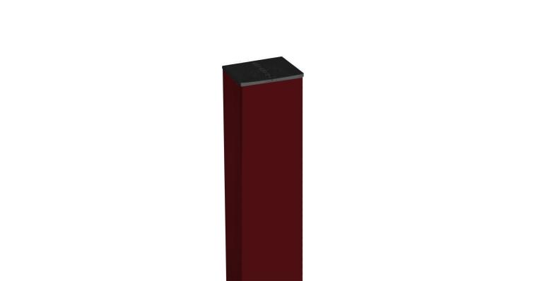 Столб 62х55х1,4х2500 RAL 3005