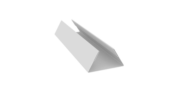 Планка стыковочная составная нижняя 0,5 Satin с пленкой RAL 9003