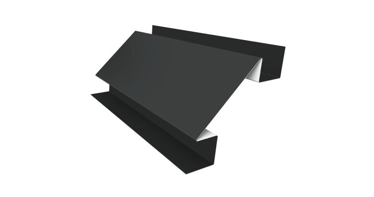 Угол внутренний сложный 75мм 0,45 PE с пленкой RAL 7005