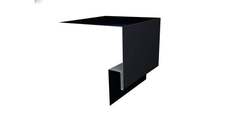 Планка околооконная сложная Блок-хаус GL 200х50 0,5 Quarzit lite с пленкой RAL 9005
