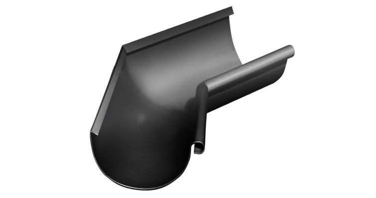 Угол желоба внутренний, 135 гр,125 мм RAL 9005
