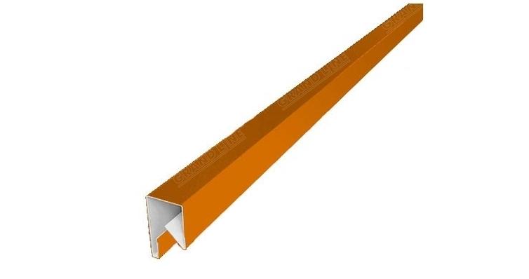Планка П-образная заборная 17 0,45 PE с пленкой RAL 2004