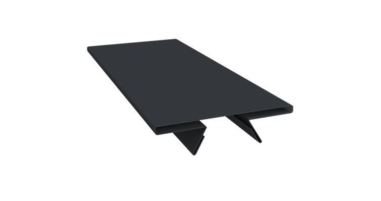 Планка стыковочная составная верхняя 0,5 Quarzit lite с пленкой RAL 7024