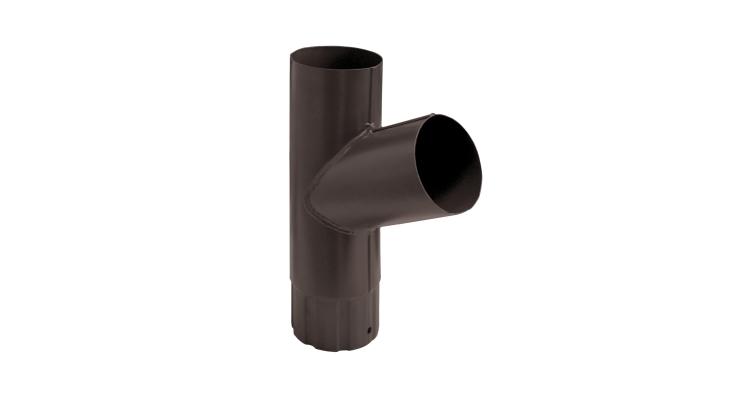 Тройник трубы,90 мм RAL 8017