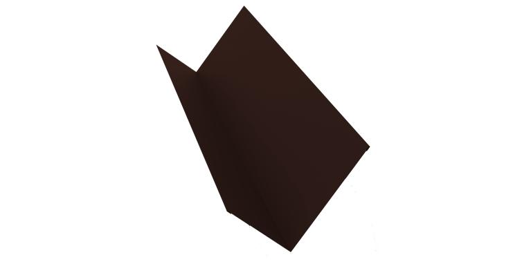 Планка примыкания 150х250 0,5 Quarzit с пленкой RAL 8017