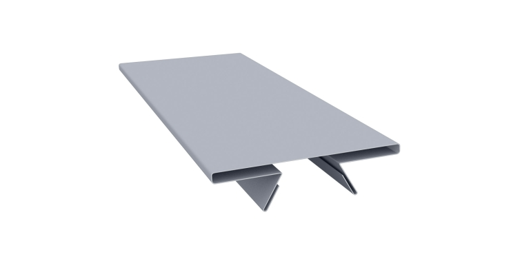 Планка стыковочная составная верхняя 0,45 PE с пленкой RAL 9006