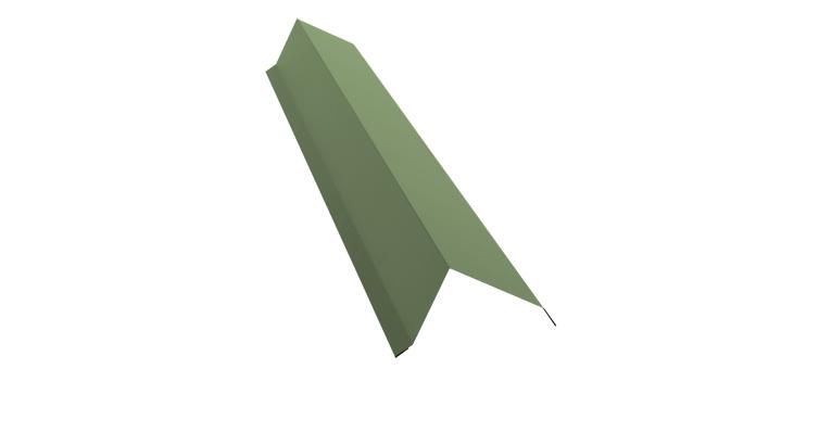Планка торцевая 100х80 0,45 PE с пленкой RAL 6019