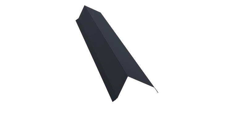 Планка торцевая 100х80 0,5 Satin с пленкой RAL 7024