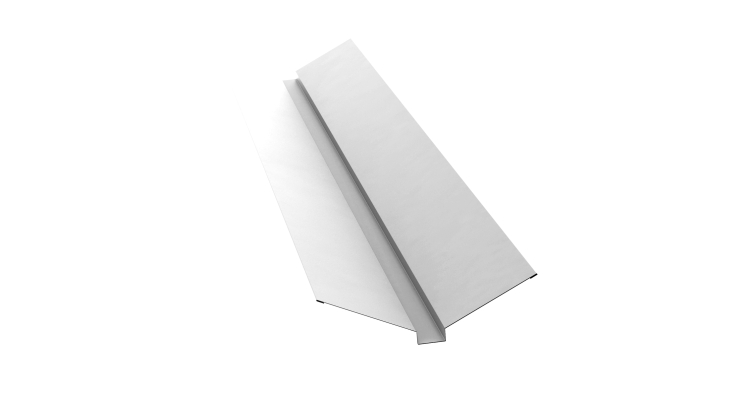 Планка ендовы верхней 115х30х115 0,45 PE с пленкой RAL 9003