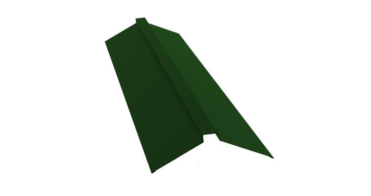 Планка конька плоского 150х40х150 0,45 PE с пленкой RAL 6002