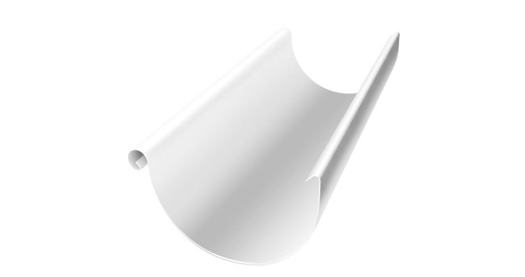 Желоб полукруглый, 150 мм, 3 м, RAL 9003
