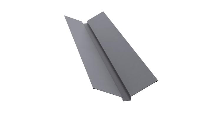 Планка ендовы верхней 115х30х115 0,45 PE с пленкой RAL 7004