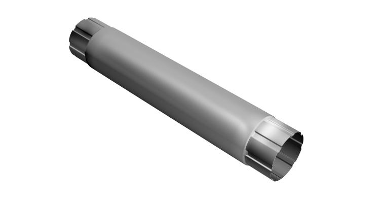 Труба круглая соединит,100 мм 1 м RAL 9003