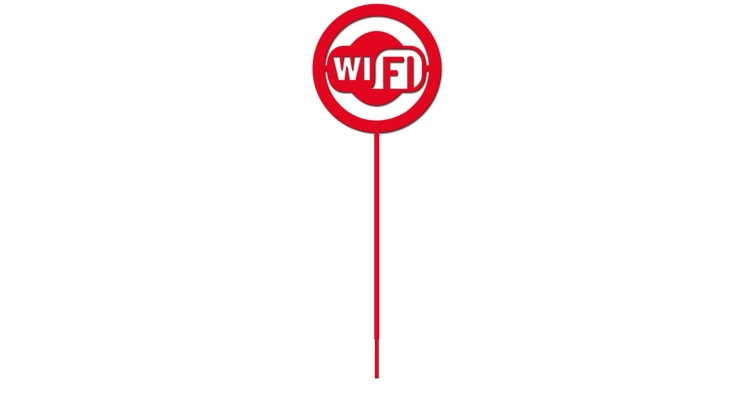 Информационный знак на штоке Duck & Dog 013 Зона Wi-Fi
