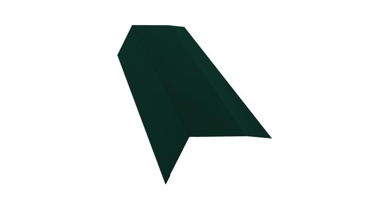 Планка карнизная 100х65 0,7 PE с пленкой RAL 6005