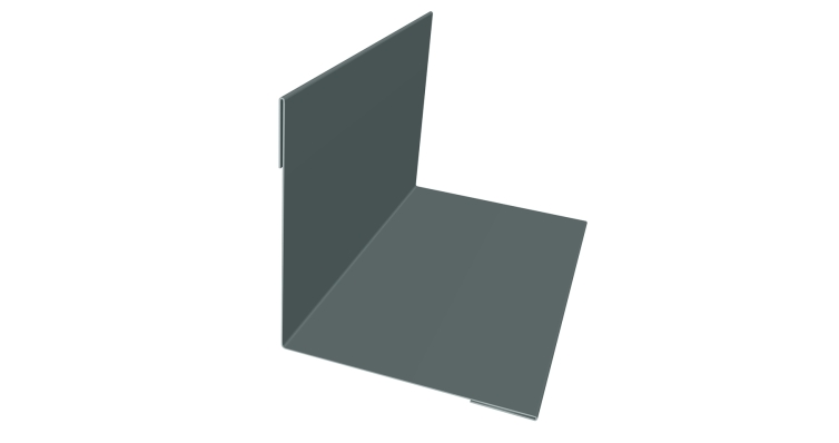 Угол внутренний 50х50 0,45 PE с пленкой 7005