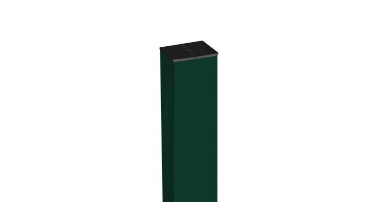 Столб 62х55х1,4х2000 RAL 6005