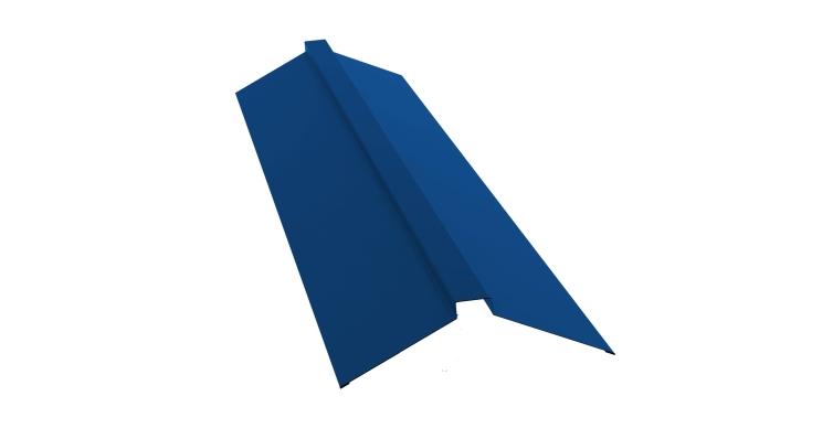 Планка конька плоского 150х40х150 0,5 Satin с пленкой RAL 5005
