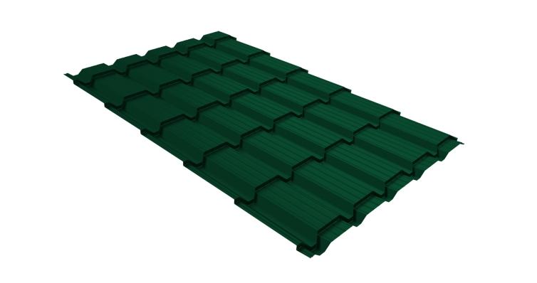 Металлочерепица квадро 0,5 Satin RAL 6005