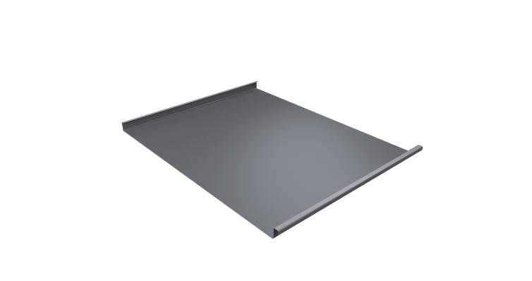 Фальц двойной стоячий 0,45 PE с пленкой RAL 9006