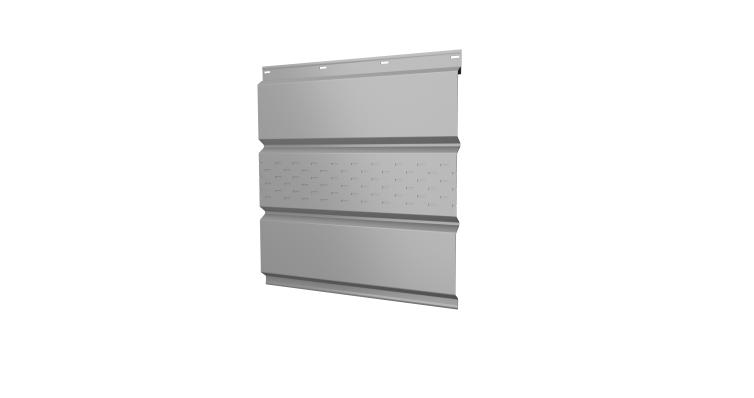 Софит металлический центральная перфорация 0,5 Satin с пленкой RAL 9003