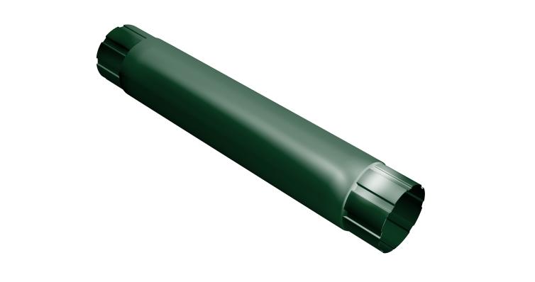 Труба круглая соединит.,90мм 1м RAL 6005